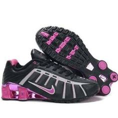Womens Hot Pink and Black Nike Shox O Leven with Chrome ec77ea5a0