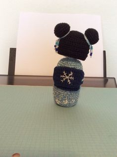 Amigurumi winter kokeshi (backside)