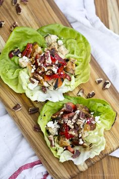 Balsamic Chicken Lettuce Wraps with Strawberries and Feta