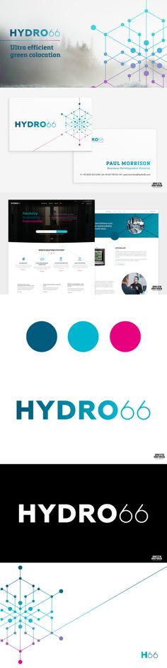 Pink, magenta, blue and navy blue  graphic identity, print, logo, business card and website.