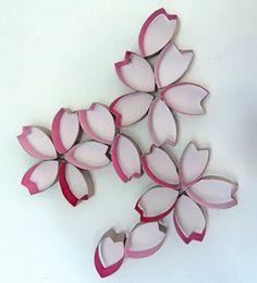 DIY wall decor ideas paper rolls ideas floral pattern