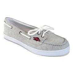 Women's Campus Cruzerz Arkansas Razorbacks Kauai Boat Shoes, Size: 11, Grey