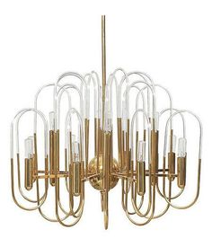Mozzafiato in ottone e vetro lampadario luce di cestlavintage18