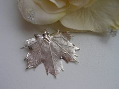 Real Leaf Necklace Silver Maple Leaf by TheButterflyGarden7, $31.00