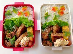 ・焼肉 ・おからハンバーグ ・卵焼き ・サラダ ・マカロニサラダ ・チーズ入りウインナー