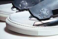 Raf Simons 2014 Spring/Summer Removable Lace Guard Sneaker: Part of Raf Simons' Spring/Summer 2014 collection, the Removable Lace Guard Sneaker is the latest Raf Simons, Driving Shoes, Cool Eyes, Hypebeast, Spring Summer, Summer 2014, Unisex, Lace, Sneakers