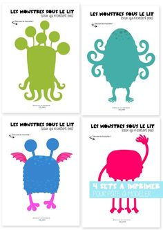 Set of monsters to decorate Monster Party, Spring Crafts For Kids, Diy Crafts For Kids, Preschool Themes, Preschool Crafts, Play Doh, Halloween Crafts, Halloween Decorations, Big Green Monster