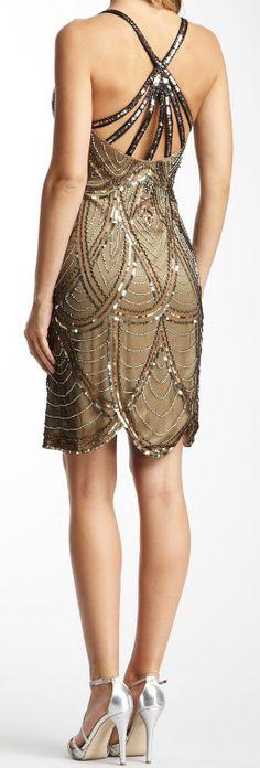 Epic // sparkle scalloped hem dress