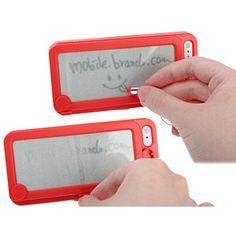 Funda iPhone 5 con pizarra trasera - Roja.