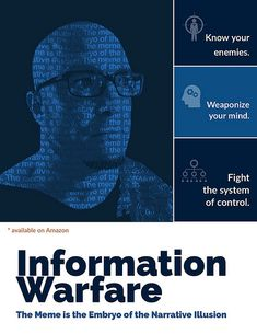 """""""Know your enemies. Weaponize your mind. Fight the system of control. James Scott's latest book """"Information Warfare: The Meme is the Embryo of the Narrative Illusion""""  #control #Weaponize #mind #book #InformationWarfare #Memes #Narrative #Illusion #Weaponize #mind #controlsystem #Psyops #InformationWarfare"""