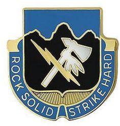 Special Troops Battalion, 2nd Infantry Division Unit Crest (Rock Solid Strike Hard)