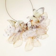 Fluttery Breath of Life in White and Ivory