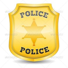 Police Badge #vector #eps #icon #security • Available here → https://graphicriver.net/item/police-badge/4509451?ref=pxcr