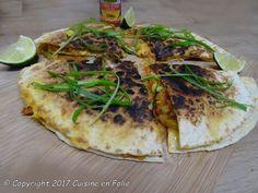 Cuisine en folie: Quesilladas aux légumes sautés et cheddar