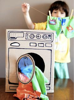 """"""""""" diy-cardboard-laundry-room-ideas – Home Design And Interior """""""" 35 Easy DIY Cardboard Crafts For Kids Toys Kids Crafts, Cardboard Crafts Kids, Cardboard Toys, Cardboard Playhouse, Cardboard Furniture, Cardboard Box Ideas For Kids, Cardboard Design, Diy Karton, Dramatic Play"""