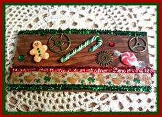 Steampunk Christmas sign PlaqueChristmas In July Sale by ghostgap, $8.50 #christmasinjuly #holiday #halloweenartistbazaar