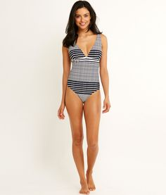 Shop Windward Stripe One Piece at vineyard vines