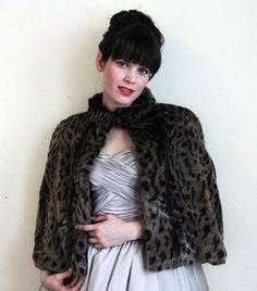 faux fur capelet - beauty  pattern n tutorial
