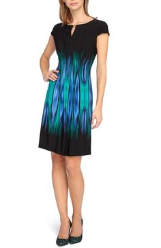 Tahari Cap Sleeve Jersey Sheath Dress (Regular & Petite) available at #Nordstrom