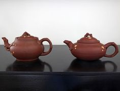 Currently at the #Catawiki auctions: Two Yixing teapots - China - second half 20th century