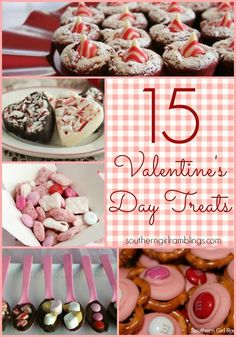 15 Valentine's Day Treats - Perfect for Parties! #desserts #recipes #valentinesday
