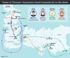 These 'Game of Thrones' characters travel much farther than you might realize