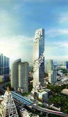 Ole Scheeren's MahaNakhon Towers Excavate the Bangkok Skyline