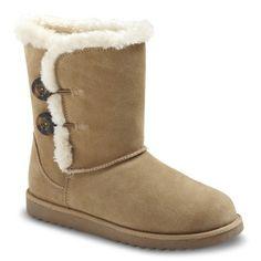 Women's Xhilaration® Kamar Genuine Suede Shearling Style Boots 89