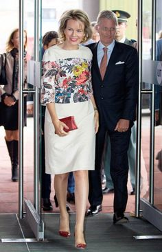 King Philippe and Queen Mathilde of Belgium 9/24/2014