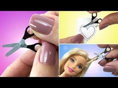 Como fazer uma Tesoura para Barbie e outras Bonecas - Material Escolar #1 - YouTube