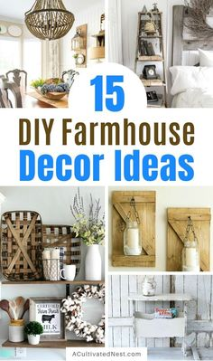 If you want to add some farmhouse style decor to your home on a budget, you need to check out these 15 charming DIY farmhouse decor ideas! | #farmhouseDecor #DIY #diyProject #decor #ACultivatedNest Farmhouse Style Decorating, Farmhouse Chic, Decorating On A Budget, Diy Home Decor Projects, Decor Ideas, Diy Ideas, Furniture Makeover, Decor Styles, Painted Furniture