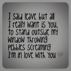 song lyrics. love.