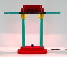 Memphis desk light by Robert Sonneman