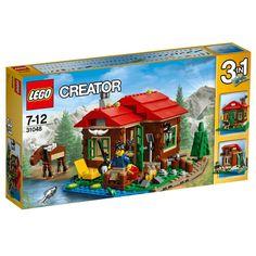 Conheça o espetacular Lego Creator - Casa do Lago, com ele você poderá construir com as mesmas peças três modelos de casas diferentes.   É possível pescar, tomar café, observar as estrelas, cortar  lenha, entre outros.   Com este sensacional Lego as crianças poderão soltar a imaginação e criar as mais incríveis historinhas.   Lego Creator é um brinquedo impecável que vai proporcionar muitos momentos de alegria e diversão.