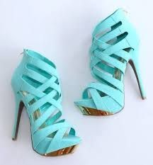 Women's Style Pumps Cyan Open Toe Back Zipper Hollow Out Stiletto Heels Sandals 2017 Fall Fashion Trends Fall Fashion Prom Dresses Shoes Back To School Outfits For College for Work, Formal event Dream Shoes, Crazy Shoes, Me Too Shoes, High Heels Gold, Leather High Heels, Mint Heels, Blue Pumps, Black Leather, Green Heels