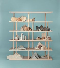 Dom-ino is a crossbreed between a bookcase and a shelves unit, a place for objects to drift to, a multilayer object where to sensibly accumulate our daily life's belongings. Trendy Furniture, Furniture Design, Terence Conran, Regal Design, 2d Design, Sketch Design, Design Ideas, Organizer, Bookshelves