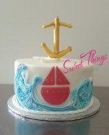 Nautical shower cake - sweetthingsbywendy.ca Shower Cakes, Let Them Eat Cake, Soap Dispenser, Nautical, Sweet, Party Cakes, Nautical Style, Nautical Theme, Sailor