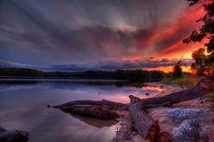 An evening at Lake of the Woods - Lakes Wallpaper ID 2021643 - Desktop Nexus Nature