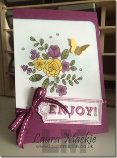 Stampin up blendabilities, card made by Laura Mackie, Stampin up uk demonstrator