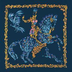 Hermes scarf: Jardin Secret, Valérie Dumoulin-Dawlat, 2003