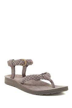 8949d80dc68d Original Suede Braid Thong Sandal Shoe Rack