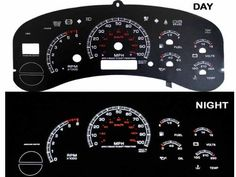 SAVE $10 - #99-02 Chevy Silverado Full Size Truck Reverse Black Gauges White indiglo kit $50.49