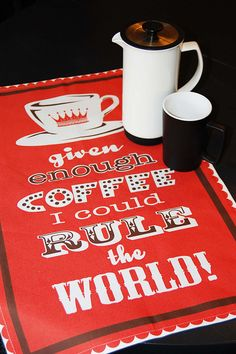 Indeed. Tea Towel by Melissa McCulloch.