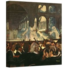 'The Ballet Scene from Meyerbeers Opera Robert le Diable' by Edgar Degas Gallery-Wrapped on Canvas