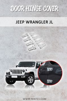 Car accessories for Jeep Wrangler JL 2018 Door Hinge Cover And Engine Hood Hinge Cover. Must have car customization and decoration accessories. Step up your car's look with this car essentials. Available for different makes and models. Custom Car Parts, Custom Cars, Car Repair Service, Auto Service, Must Have Car Accessories, Chasing Cars, Car Essentials, Wrangler Jl