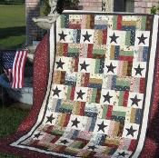 "Stars and Stripes - A Jelly Roll Quilt - via @Craftsy ......62"" x 86"" or 75"" x 75"