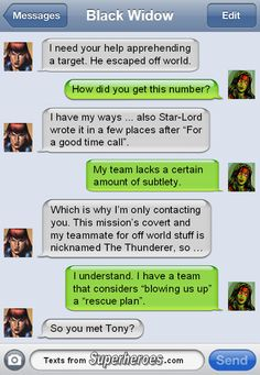 Sometimes you just need a female friend...  Texts From Superheroes