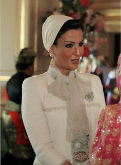 Sheikha Mozah in Chanel Couture