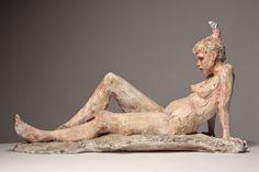Sculptures by Debra Balchen Human Sculpture, Sculptures Céramiques, Modern Sculpture, Sculpture Clay, Ceramic Figures, Clay Figures, Ceramic Art, Ceramic Sculpture Figurative, Figure Drawing