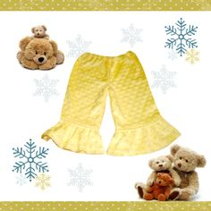 $12 only! Baby Clothes. Minky Dimple Dot Fleece Pants. Ruffled Pants. 6 months – 2T